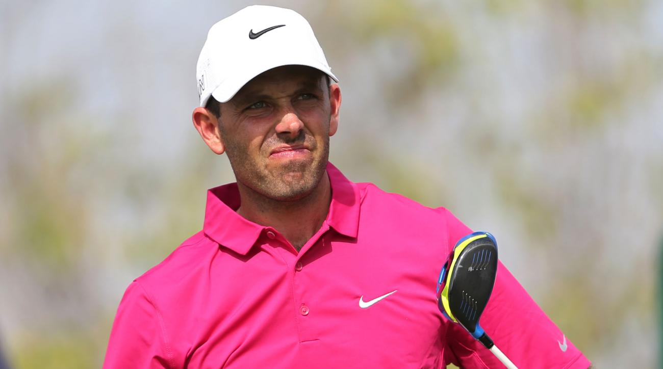 Charl Schwartzel of South Africa follows his ball on the 2nd hole during the third round of DP World Tour Championship golf tournament in Dubai, United Arab Emirates, Saturday, Nov. 21, 2015. (AP Photo/Kamran Jebreili)