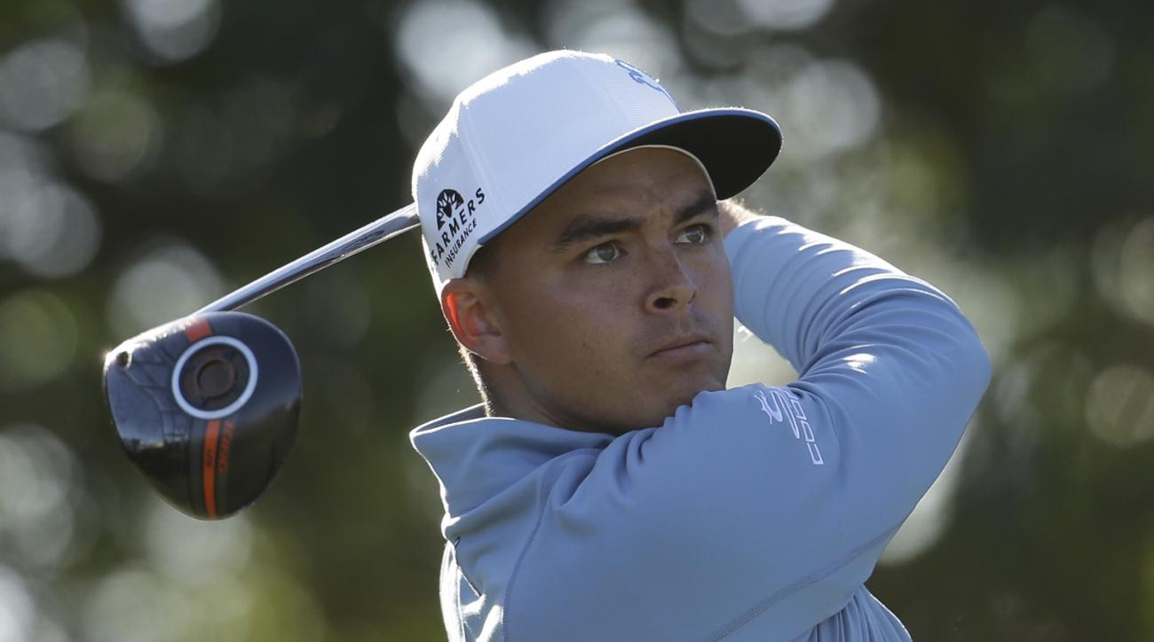 Rickie Fowler watches his tee shot on the 14th hole during the second round of the Honda Classic golf tournament, Friday, Feb. 26, 2016, in Palm Beach Gardens, Fla. (AP Photo/Lynne Sladky)