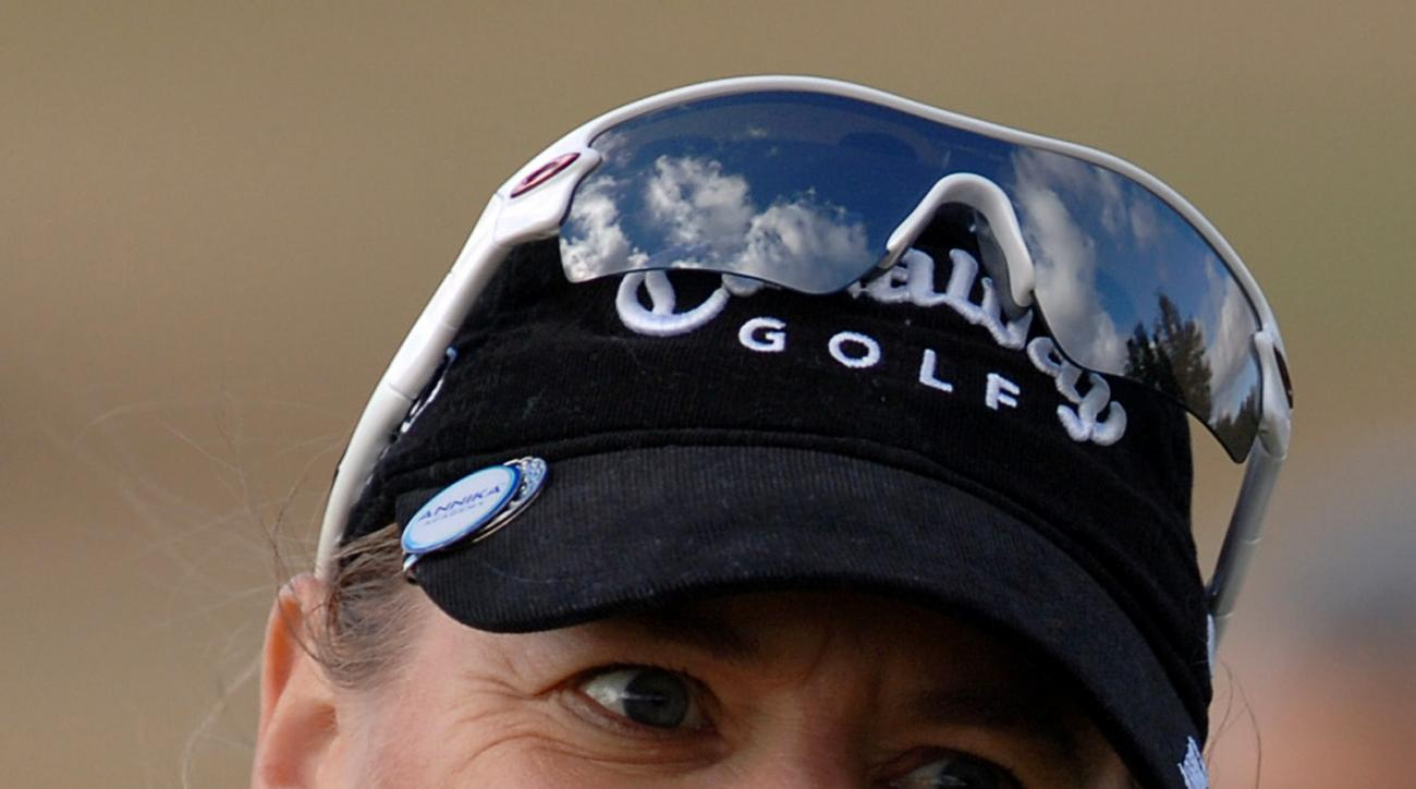 ** FILE ** This is a Feb. 3, 2009, file photo showing Annika Sorenstam.  It's a girl for Annika Sorenstam. The Hall of Fame golfer wrote in her blog that Ava Madelyn McGee was born Tuesday morning, Sept. 1, 2009. She weighed 6 pounds, 10 ounces and was 19