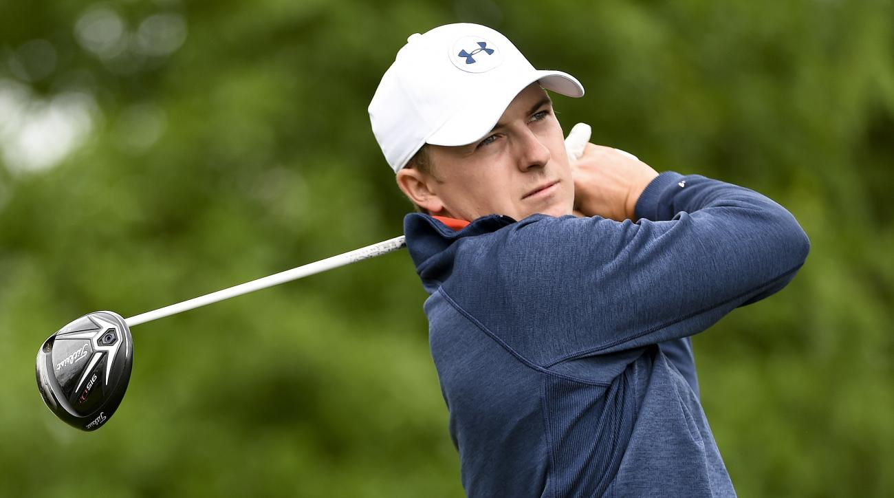 Jordan Spieth tees off on the 15th hole during the second round of the Houston Open golf tournament, Friday, April 1, 2016, in Humble, Texas. (AP Photo/Eric Christian Smith)