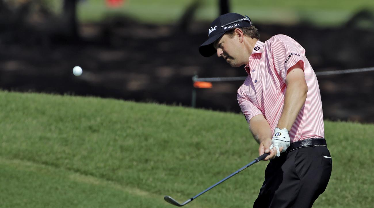 Bryce Molder chips to the 7th green during a practice round for The Players Championship golf tournament Wednesday, May 11, 2016, in Ponte Vedra Beach, Fla. (AP Photo/Chris O'Meara)