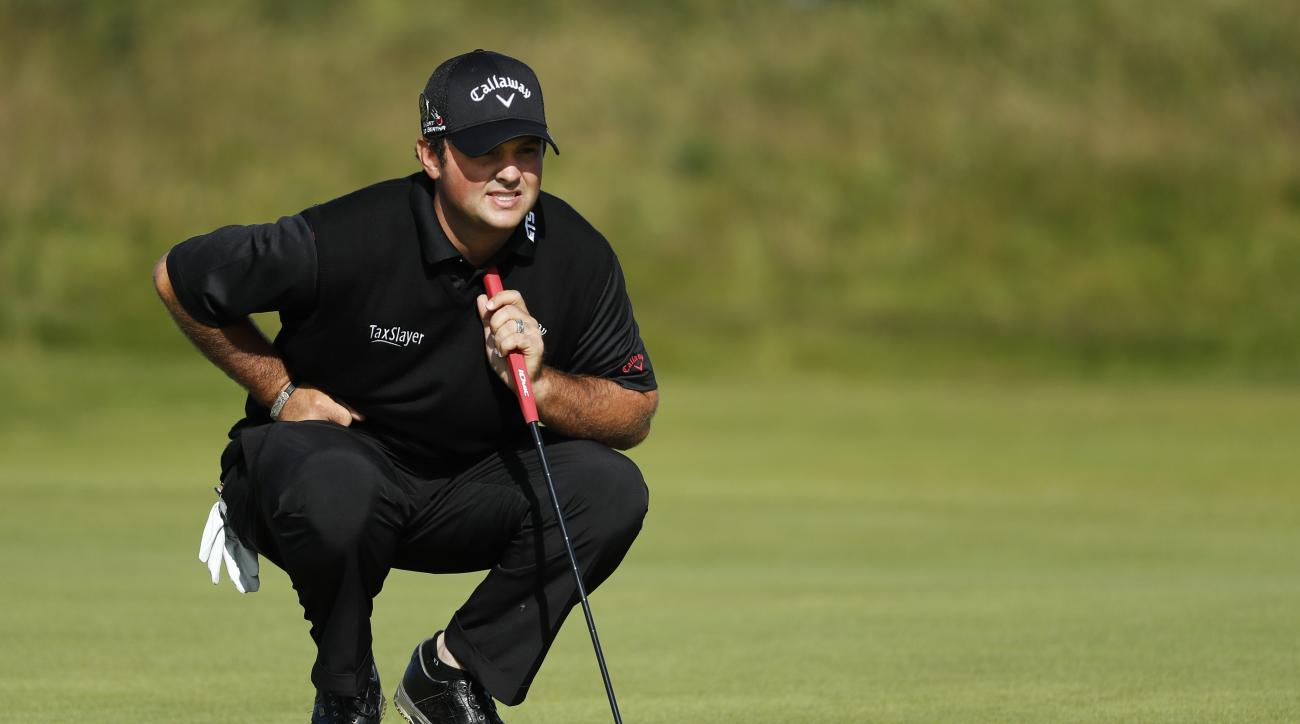 Patrick Reed of the United States looks at his put on the 5th green during the first round of the British Open Golf Championship at the Royal Troon Golf Club in Troon, Scotland, Thursday, July 14, 2016. (AP Photo/Ben Curtis)