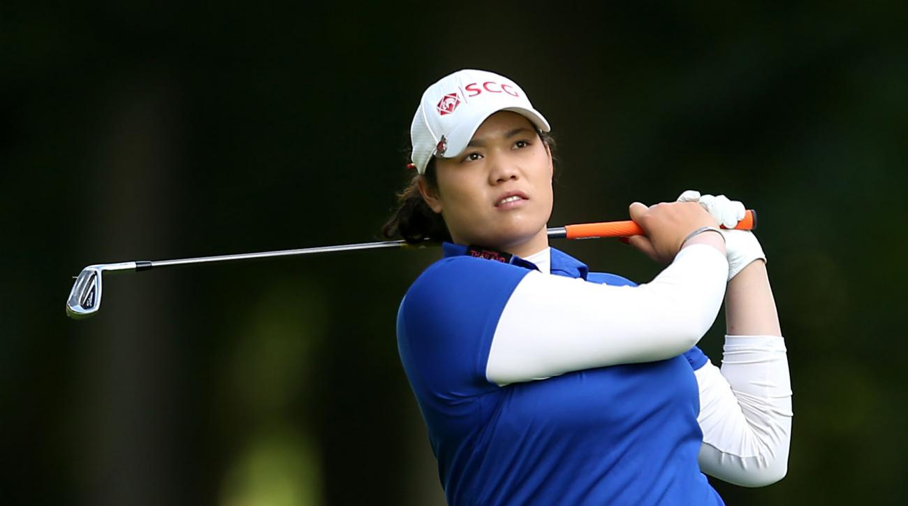 Thailand's Ariya Jutanugarn in action during day three of the Women's British Open at Woburn Golf Club in Woburn, England, Saturday, July 30, 2016. The Women's British Open was established by the Ladies' Golf Union in 1976 and was intended to serve as the