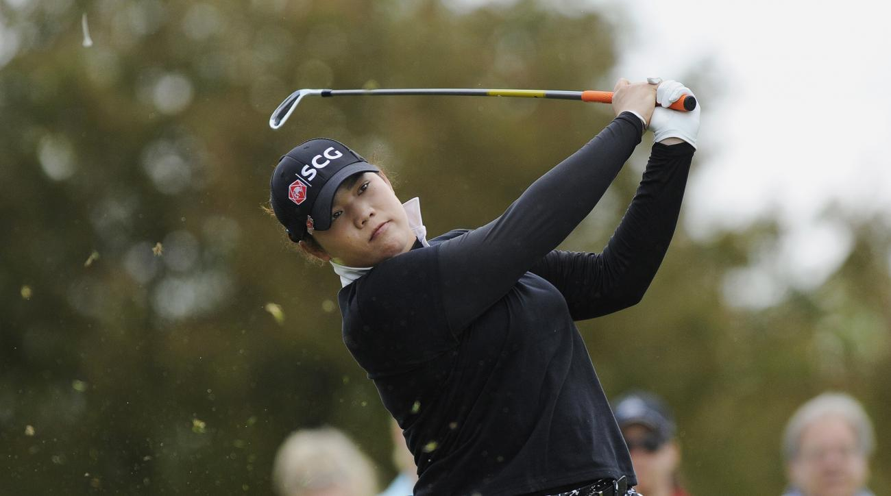 FILE - In this May 29, 2016, file photo, Ariya Jutanugarn, of Thailand, hits from the second tee during the final round of the LPGA Volvik Championship golf tournament at the Travis Pointe Country Club, in Ann Arbor, Mich.  This would have seemed to be a