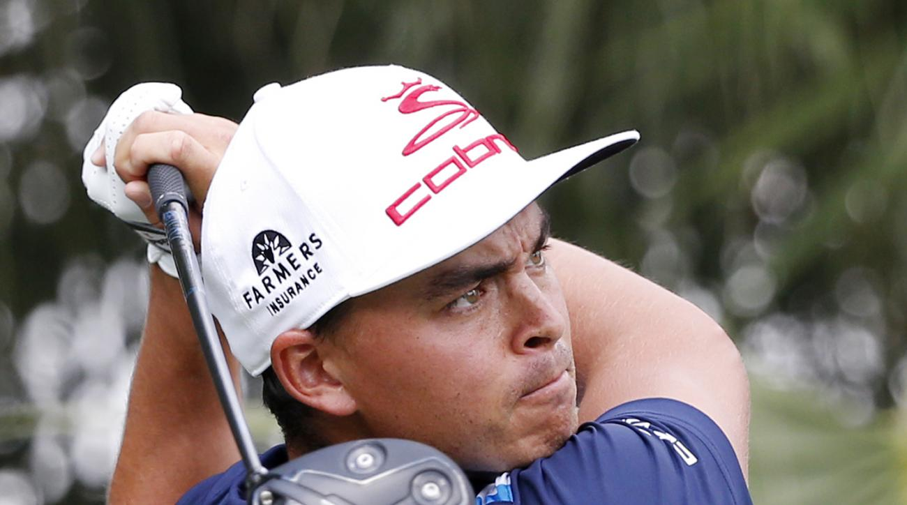 Rickie Fowler tees off on the third tee during the third round of the Honda Classic golf tournament, Saturday, Feb. 25, 2017, in Palm Beach Gardens, Fla. (AP Photo/Wilfredo Lee)