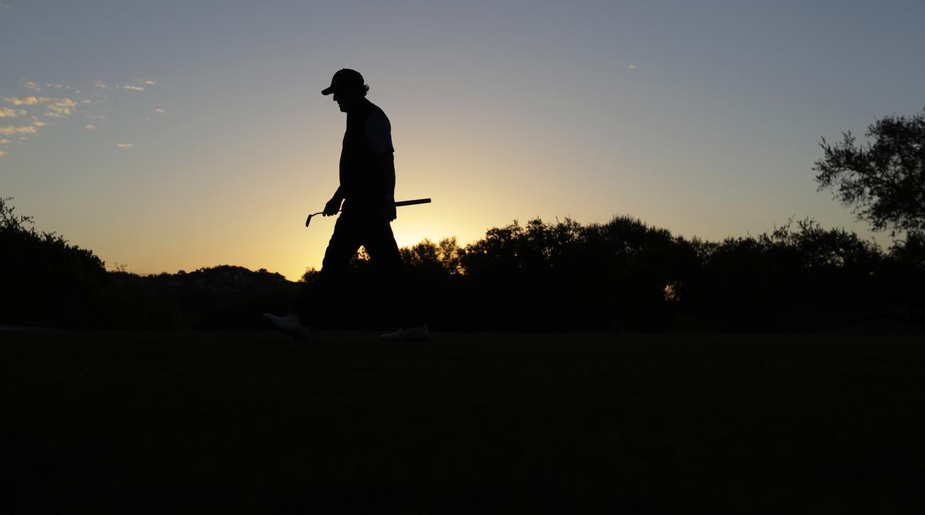 Phil Mickelson walks to the first tee during the round of 16 play at the Dell Technologies Match Play golf tournament at Austin County Club, Saturday, March 25, 2017, in Austin, Texas. (AP Photo/Eric Gay)