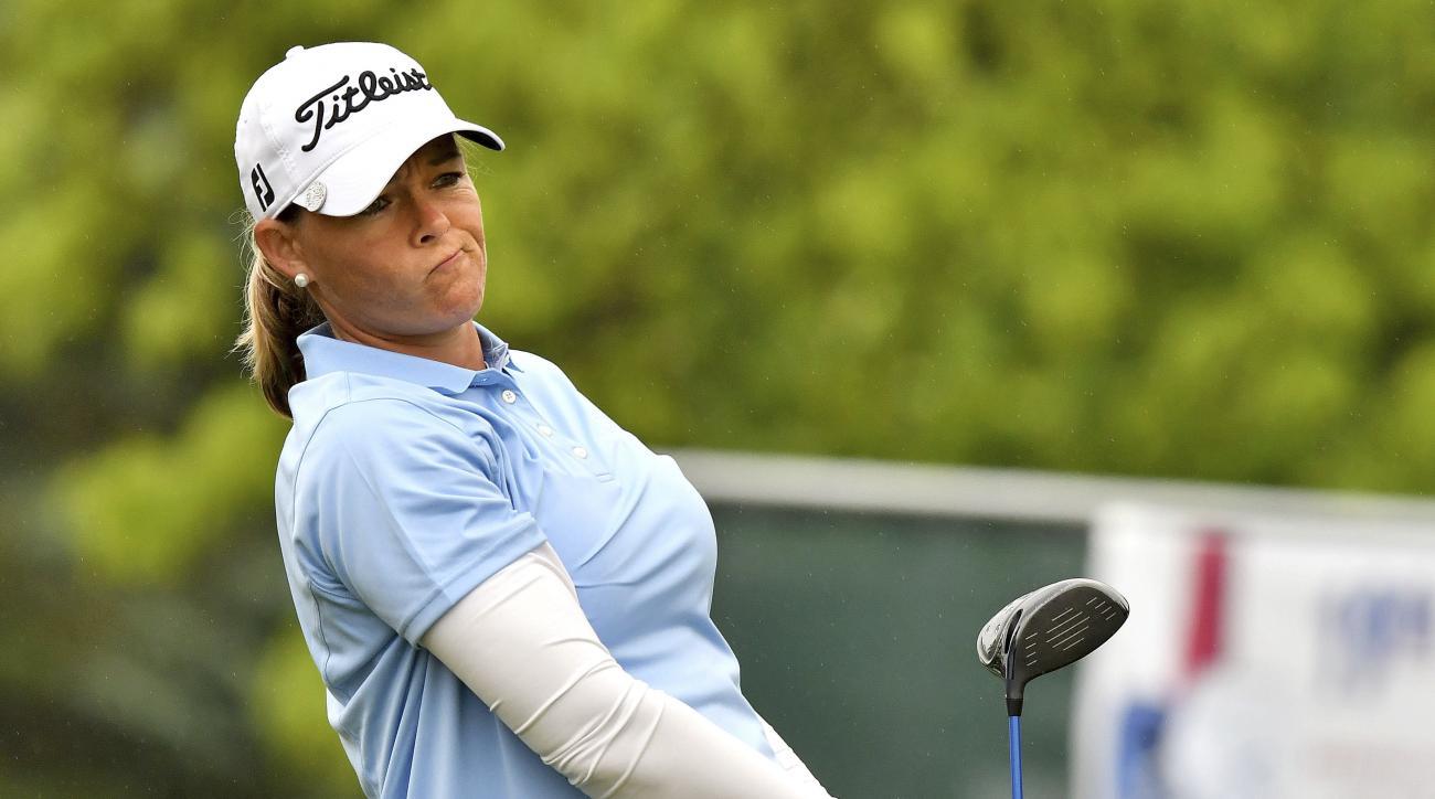 Katherine Kirk takes LPGA Tour lead after career-best 63
