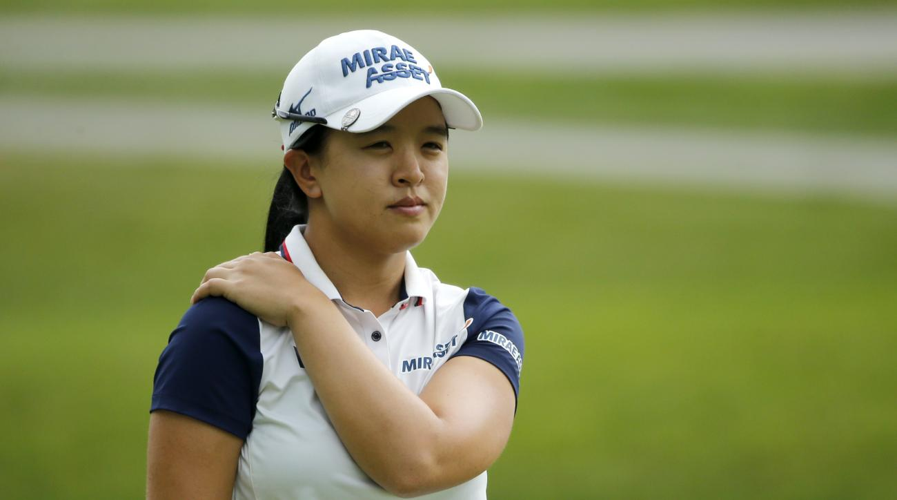 Sei Young Kim, of South Korea, looks over the ninth green during the second round of the Women's PGA Championship golf tournament at Olympia Fields Country Club Friday, June 30, 2017, in Olympia Fields, Ill. (AP Photo/Charles Rex Arbogast)