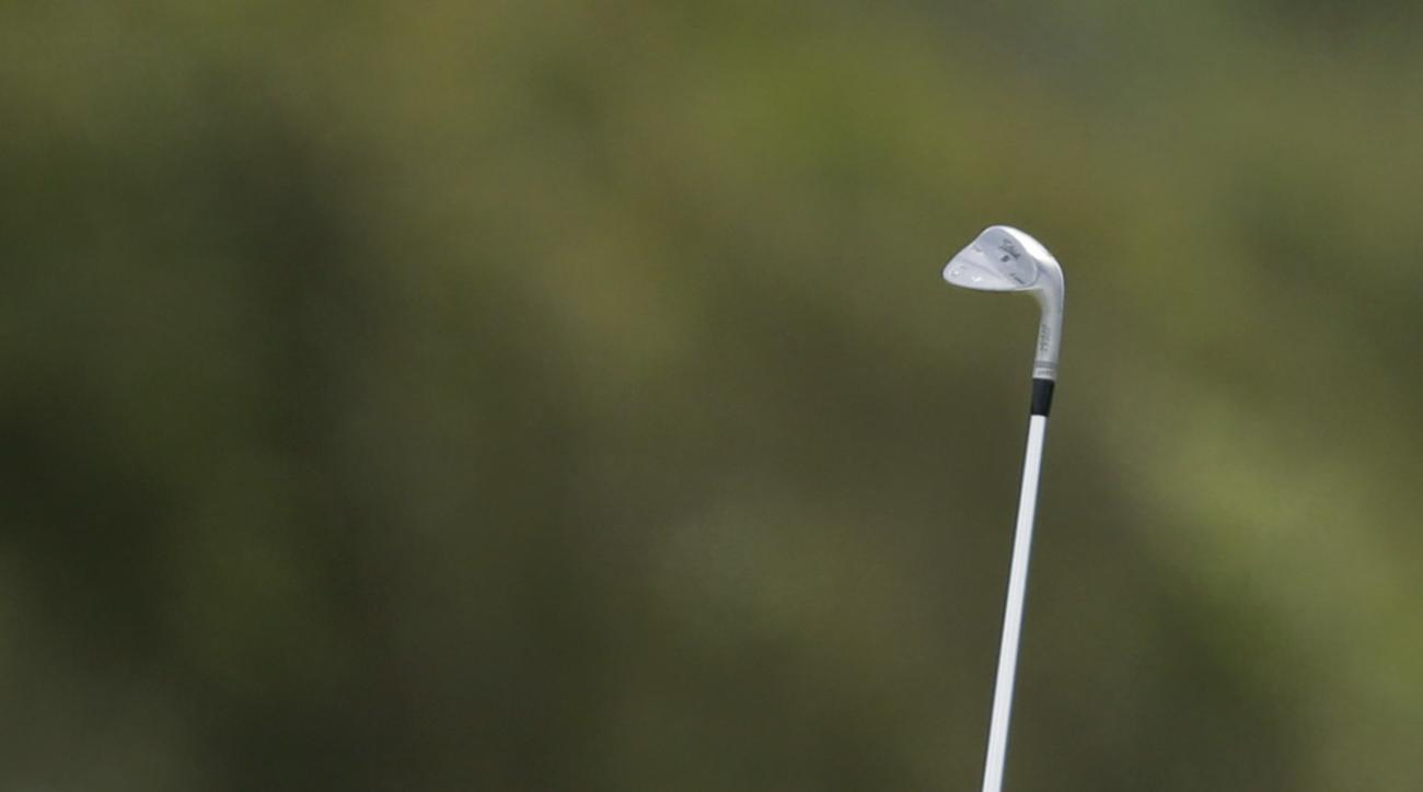 Jordan Spieth of the United States plays a shot on the 18th hole during the first round of the British Open Golf Championship, at Royal Birkdale, Southport, England Thursday, July 20, 2017. (AP Photo/Alastair Grant)