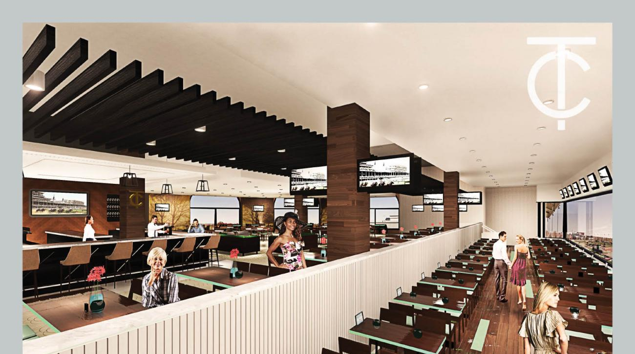 This artists rendering provided by Churchill Downs shows some of the upgrades planned for the clubhouse at Churchill Downs. Churchill Downs is nearing the starting gate for another construction project that will upgrade its clubhouse to maximize revenue f