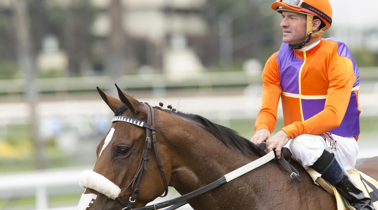 In this image provided by Benoit Photo, Spendthrift Farm's Cover Song and jockey Kent Desormeaux, right, overpower Danilovna (Flavien Prat), outside and Barleysugar (Gary Stevens), left, to win the Grade III, $100,000 Autumn Miss Stakes, Saturday, Oct. 29