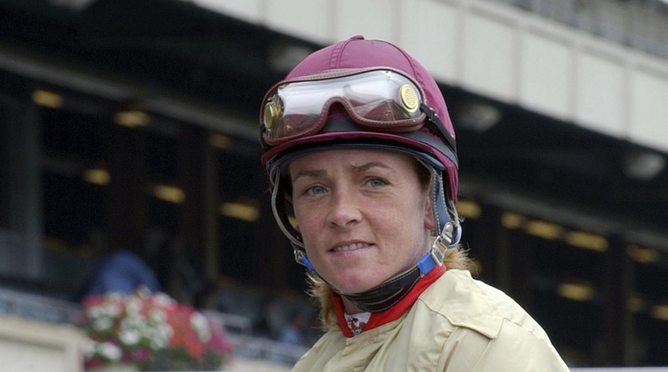 This undated image provided by Coglianese Photos shows jockey Diane J. Nelson at Belmont Park in Elmont, N.Y. Nelson, a multiple graded-stakes winning jockey who rode over 1,000 winners while capitalizing on her good looks with a modeling career, has died