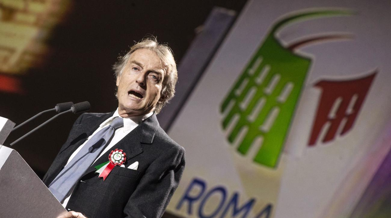 Rome 2024 Olympic bid committee chairman Luca Cordero di Montezemolo speaks during the presentation of Rome's bid to stage the 2024 Olympics, in Rome, Wednesday, Feb 17, 2016, the same day the initial bid dossier was submitted to the International Olympic