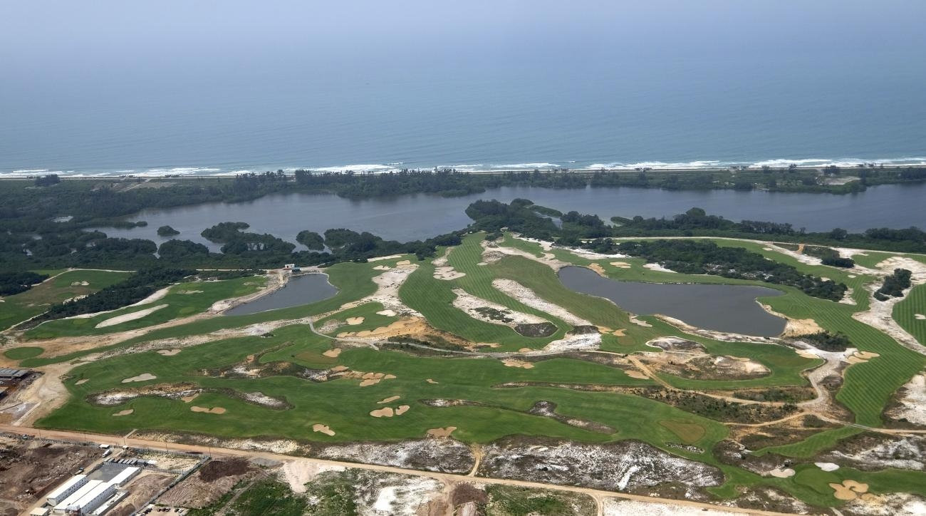 The Olympic Golf Course is shown in this aerial view Friday, Oct. 9, 2015, in Rio de Janeiro. The 2016 Olympic Games will be held in Rio de Janeiro.  (AP Photo/David J. Phillip)
