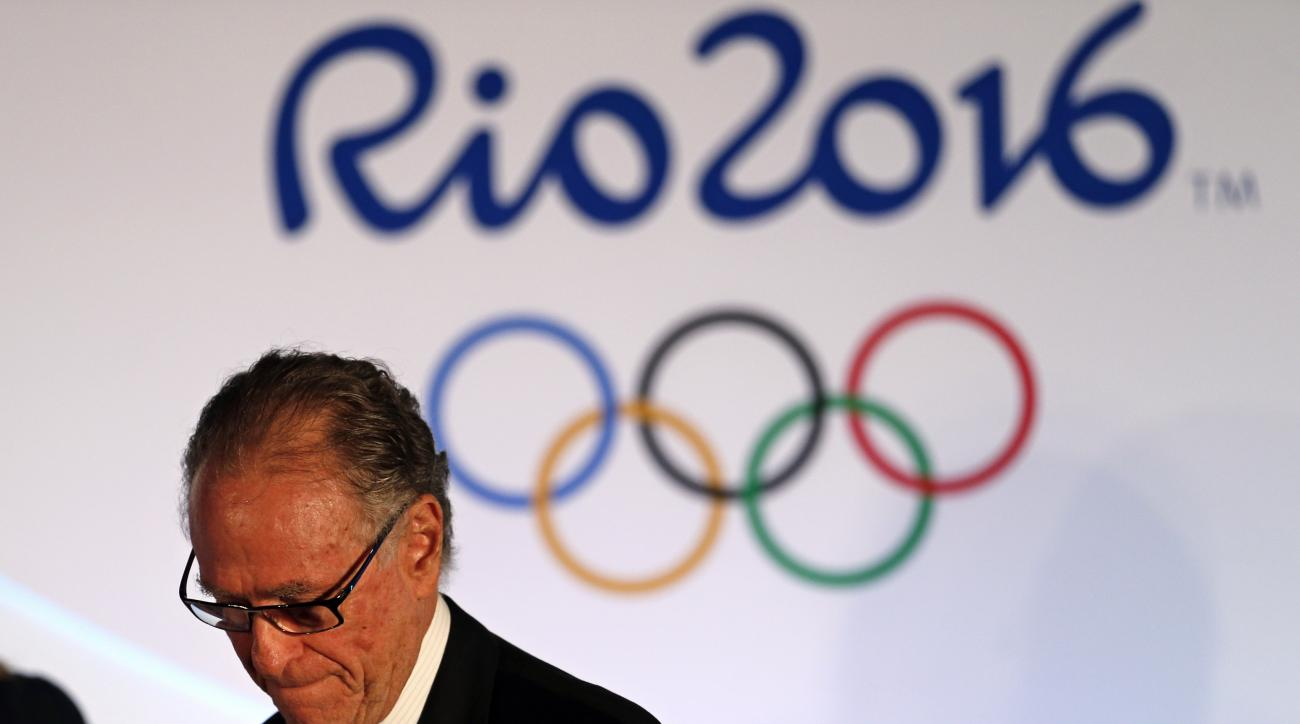 Brazil Olympic Committee President Carlos Arthur Nuzman attends the draw for the men's Olympic football tournament in Rio de Janeiro, Brazil, Thursday, April 14, 2016. (AP Photo/Silvia Izquierdo)