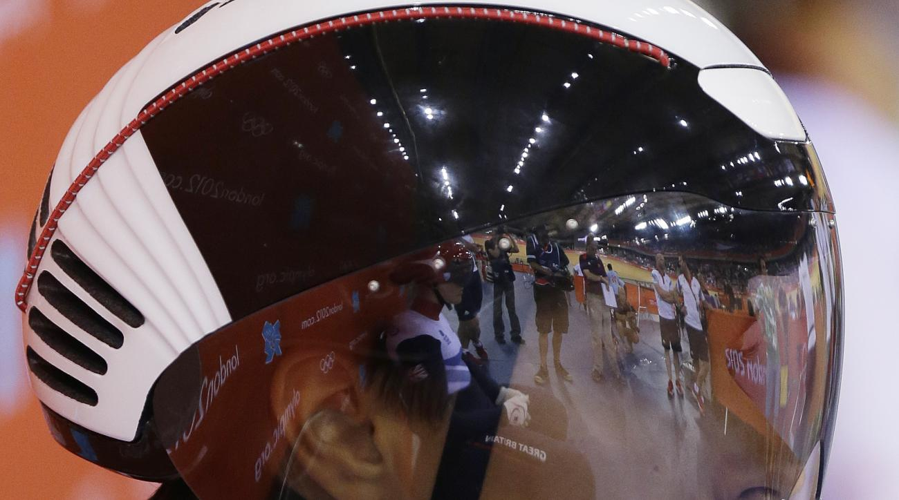 FILE In this Sunday, Aug. 5, 2012 file photo Russia's Yekaterina Gnidenko prepares for a track cycling women's sprint, during the 2012 Summer Olympics, in London. The International Cycling Union said Yekaterina Gnidenko was suspended after failing a dopin