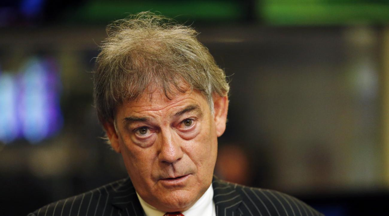 FILE - In this April 21, 2015, file photo, David Howman, director general of the World Anti-Doping Agency, speaks to The Associated Press during an interview in New York. If the Russian track team is barred from the Olympics, the director general of the W