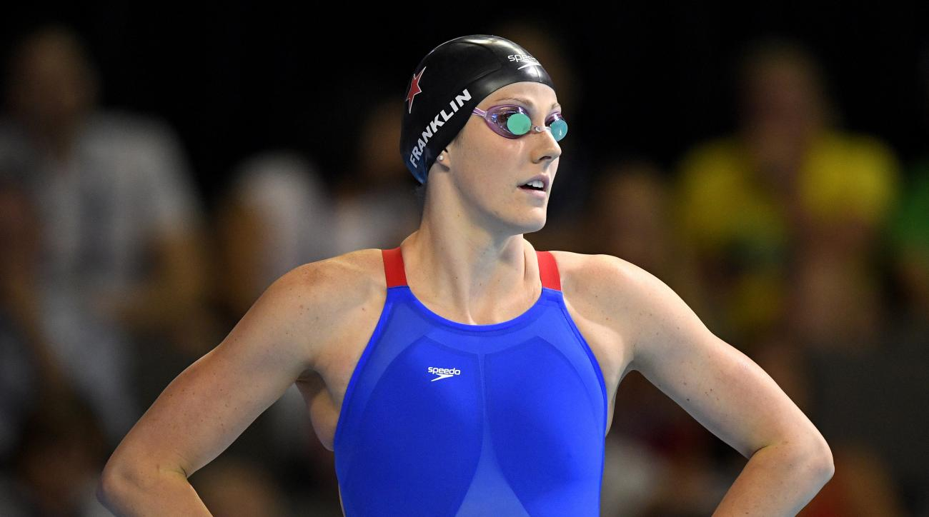 Missy Franklin waits to swim in the women's 200-meter freestyle final at the U.S. Olympic swimming trials, Wednesday, June 29, 2016, in Omaha, Neb. Franklin finished in second place. (AP Photo/Mark J. Terrill)