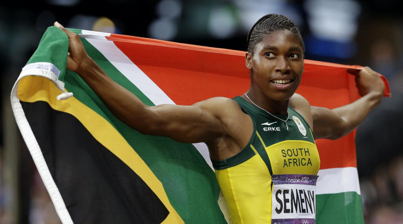 FILE - In this Aug. 11, 2012 file photo, South Africa's Caster Semenya reacts after finishing in second place in the women's 800-meter final at the 2012 Summer Olympics in London.  It seems the sports world just doesnt know what to do with an athlete like