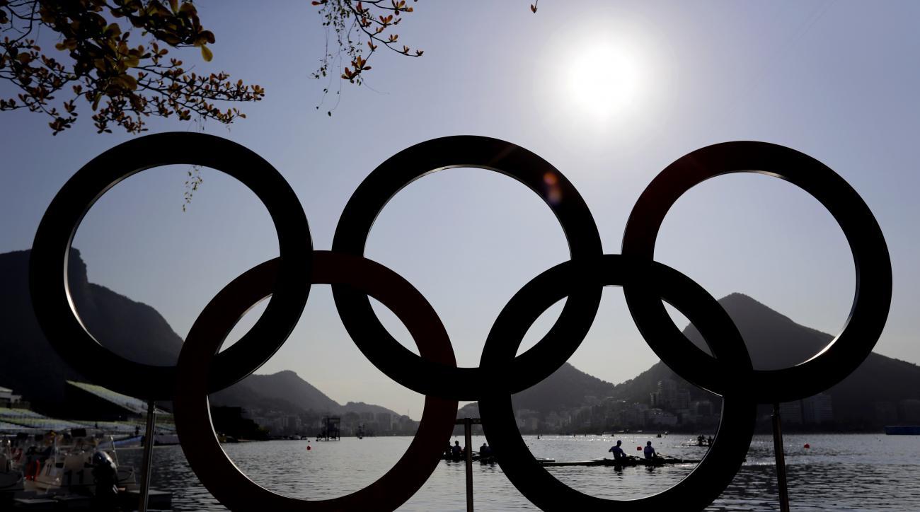 Rowers practice in Lagoa ahead of the 2016 Summer Olympics in Rio de Janeiro, Brazil, Friday, Aug. 5, 2016. (AP Photo/Matt York)