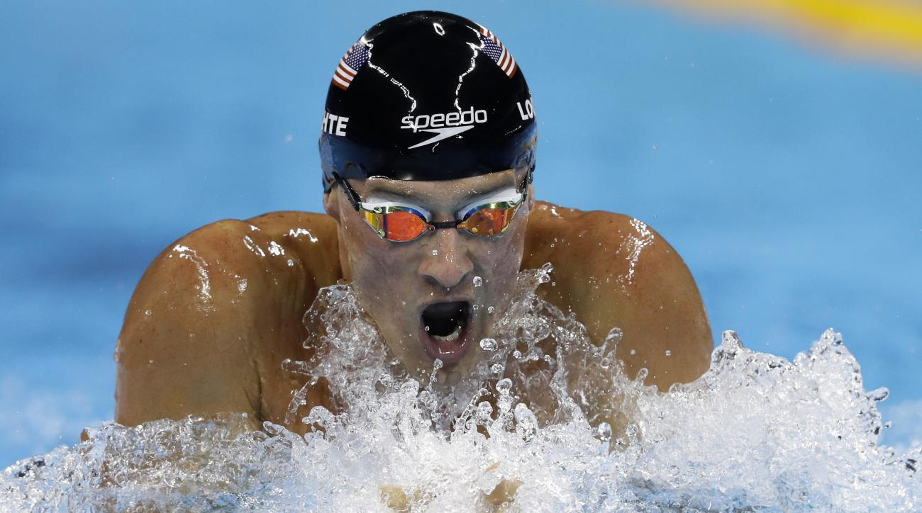 United States' Ryan Lochte competes in the men's 200-meter individual medley final during the swimming competitions at the 2016 Summer Olympics, Thursday, Aug. 11, 2016, in Rio de Janeiro, Brazil. (AP Photo/Michael Sohn)