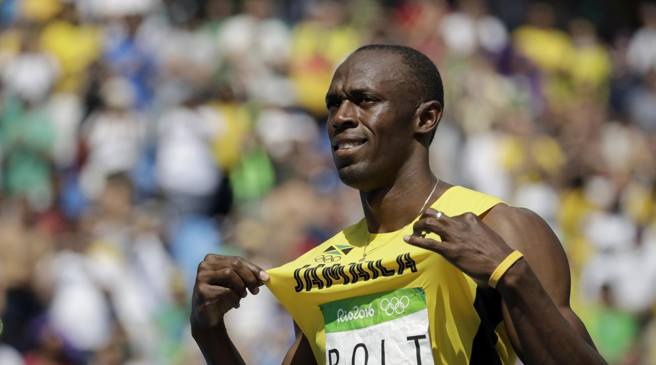 Jamaica's Usain Bolt competes in a men's 200-meter heat during the athletics competitions of the 2016 Summer Olympics at the Olympic stadium in Rio de Janeiro, Brazil, Tuesday, Aug. 16, 2016. (AP Photo/Charlie Riedel)