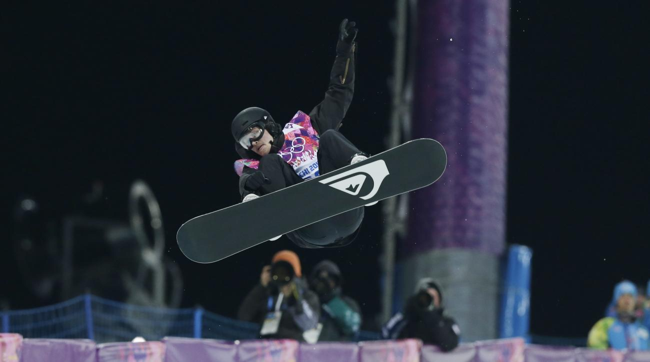 FILE - In this Tuesday, Feb. 11, 2014 file photo, Switzerland's Iouri Podladtchikov competes in the men's snowboard halfpipe final at the Rosa Khutor Extreme Park, at the 2014 Winter Olympics, in Krasnaya Polyana, Russia. Podladtchikov will have surgery f