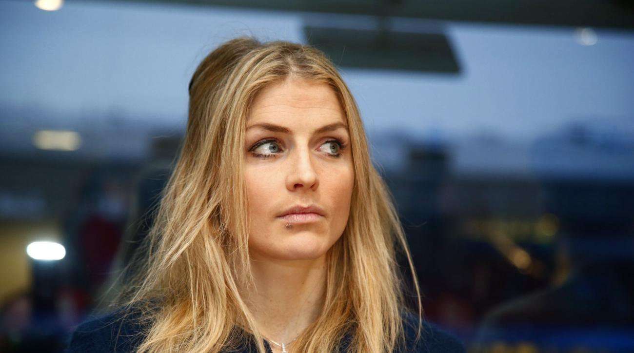 FILE - In this Jan. 25, 2017 file photo Norway's cross country skier Therese Johaug waits for the start of a two day hearing of her doping case, in Oslo. Former Olympic champion Therese Johaug will miss the 2018 Winter Games after her ban in a steroid dop