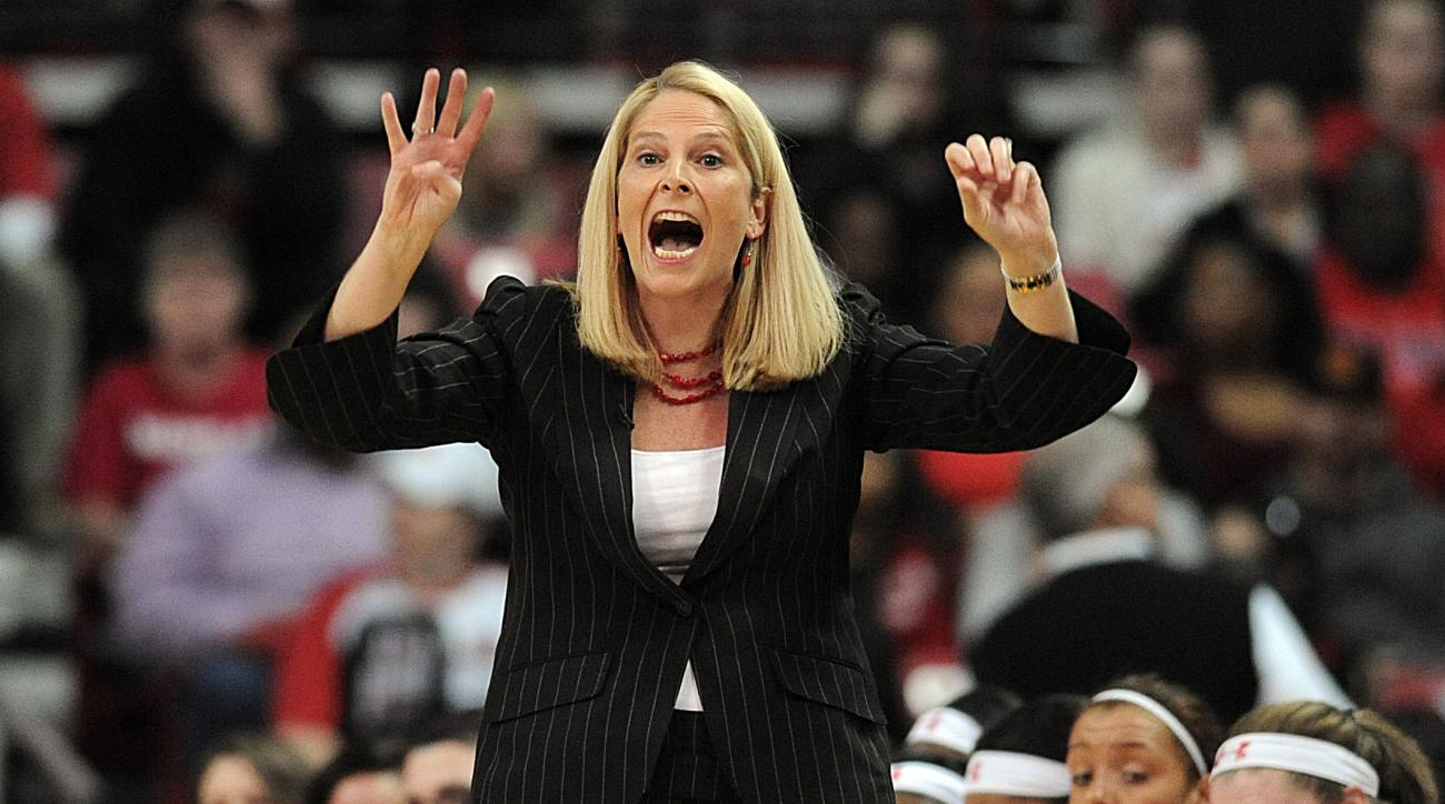 FILE - In this Feb. 28, 2016, file photo, Maryland head coach Brenda Frese calls to her team during the first half of an NCAA college basketball game against Minnesota in College Park, Md. Iona's reward for reaching the women's NCAA Tournament for the fir