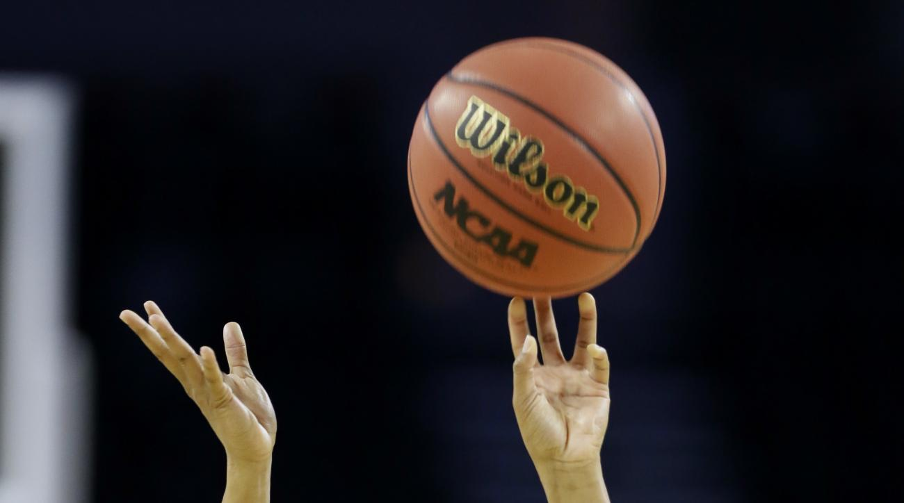 Ohio State guard Kelsey Mitchell shoots during practice ahead of a regional semifinal women's college basketball game in the NCAA Tournament, Thursday, March 24, 2016, in Sioux Falls, S.D. Ohio State will play Tennessee on Friday. (AP Photo/Charlie Neiber