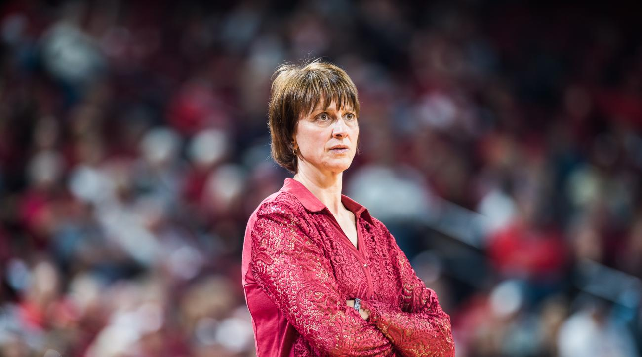 In this Feb. 28, 2016 photo, Nebraska womens basketball coach Connie Yori is shown during an NCAA college basketball game against northwestern in Lincoln, Neb. Womens basketball coach Connie Yori has resigned after 14 seasons at Nebraska. In a statement r