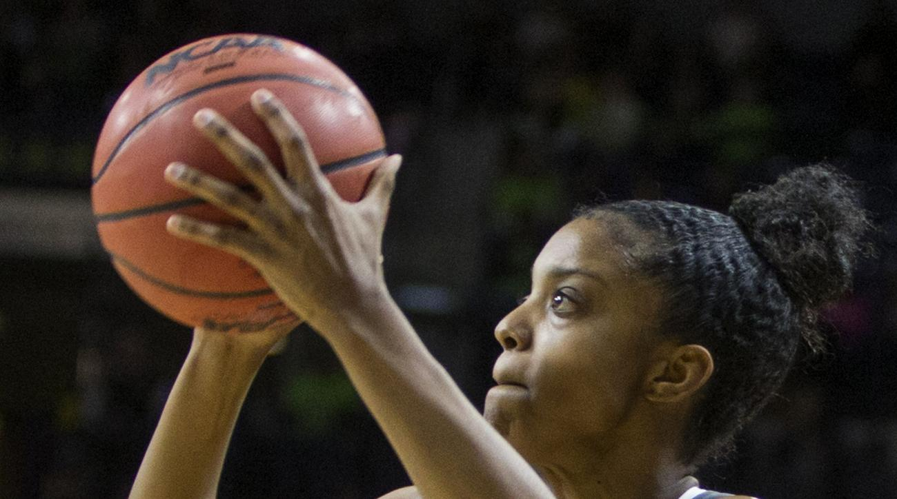 FILE - In this Jan. 18, 2016, file photo, Tennessee's Diamond DeShields (11) shoots during the first half of an NCAA college basketball game  in South Bend, Ind. The 2013 high school senior class was one of the most talented in recent women's basketball h