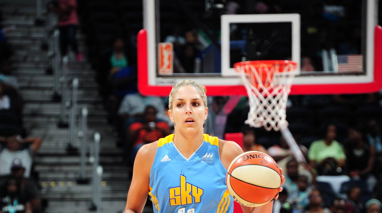 ATLANTA, GA - JUNE 19: Elena Delle Donne #11 of the Chicago Sky drives to the basket against the Atlanta Dream during the game at Philips Center on June 19, 2015 in Atlanta, Georgia. (Photo by Scott Cunningham/NBAE via Getty Images)
