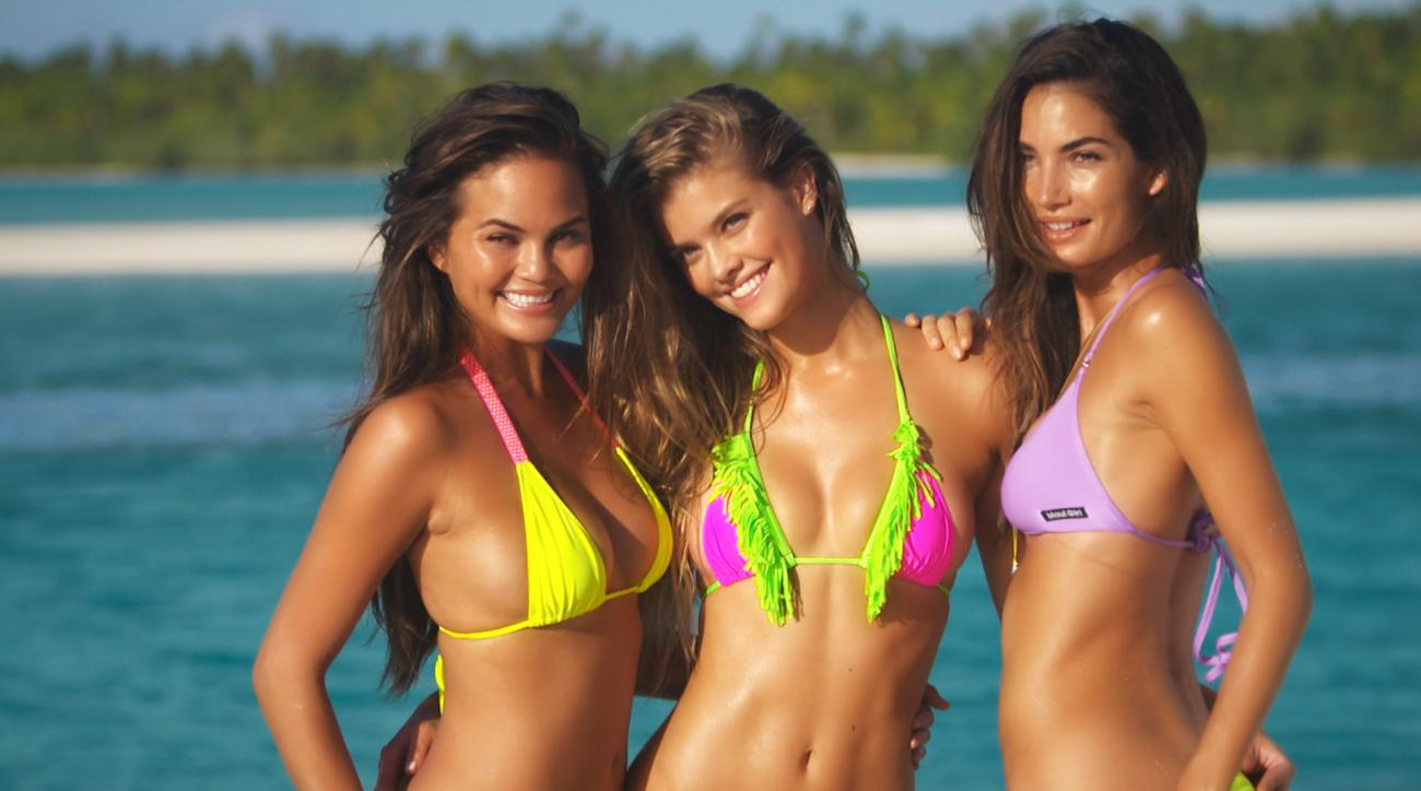 si swimsuit models get down to lee brice s girls in bikinis who