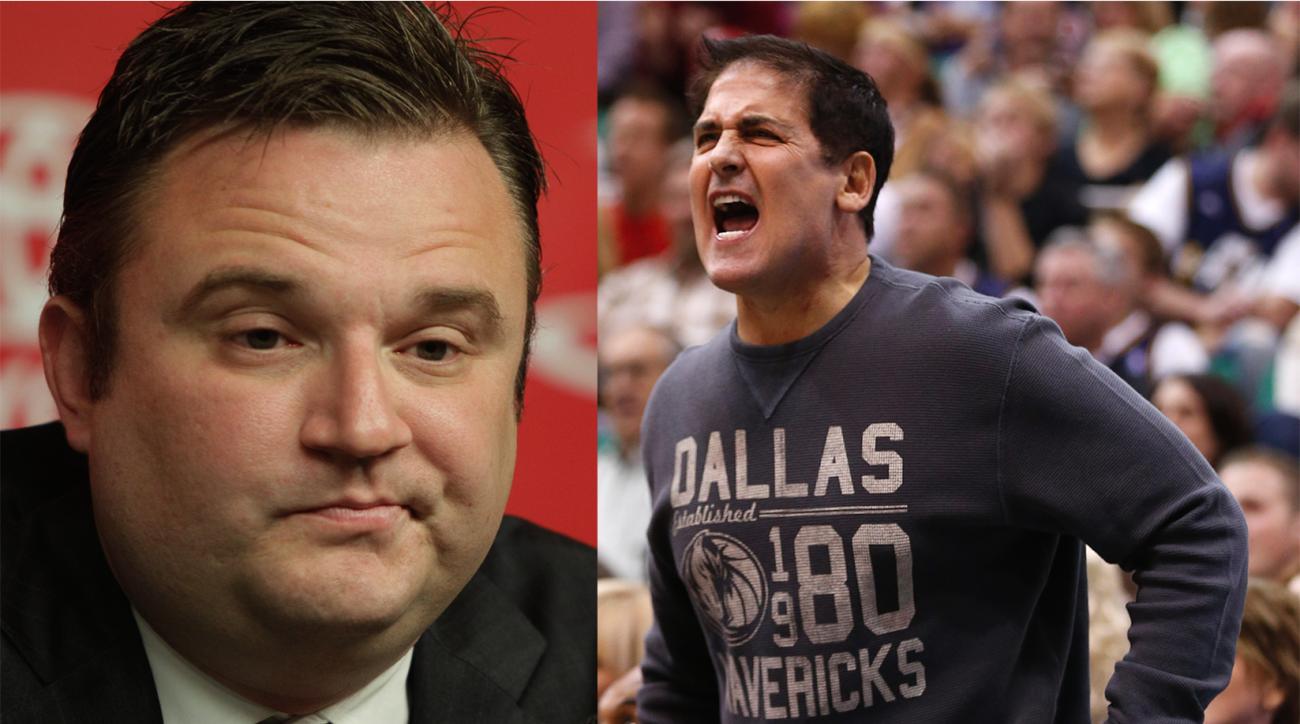Houston Rockets GM Daryl Morey responds to Mark Cuban criticizing his management.