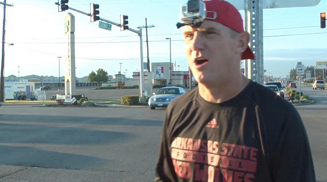 """Red Wolves coach Blake Anderson dons GoPro to hand out """"traffic tickets"""""""