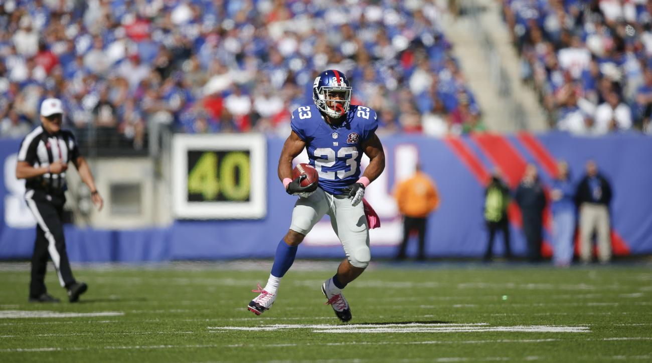 New York Giants running back Rashad Jennngs will not need surgery on his sprained MCL.