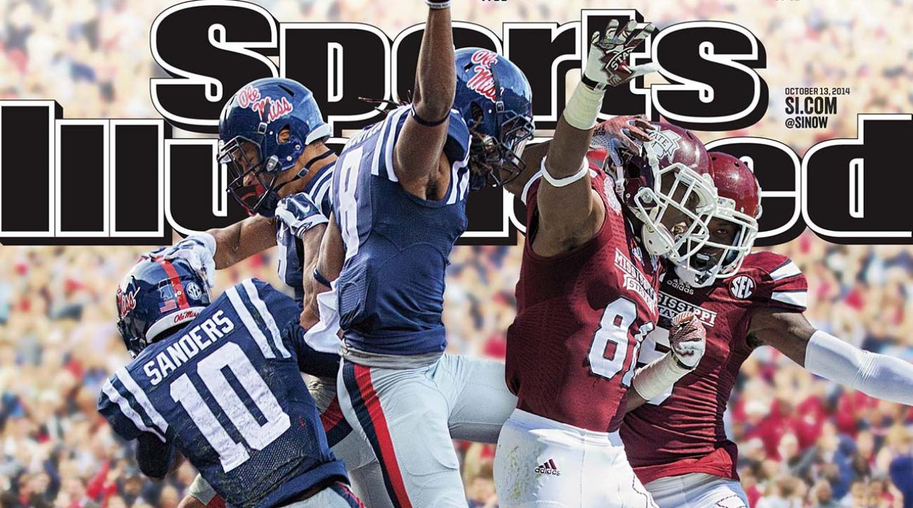 Mississippi State and Ole Miss grace the cover of this week's Sports Illustrated.