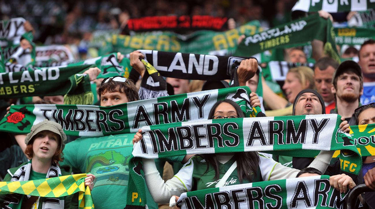 portland timbers cheer for sounders