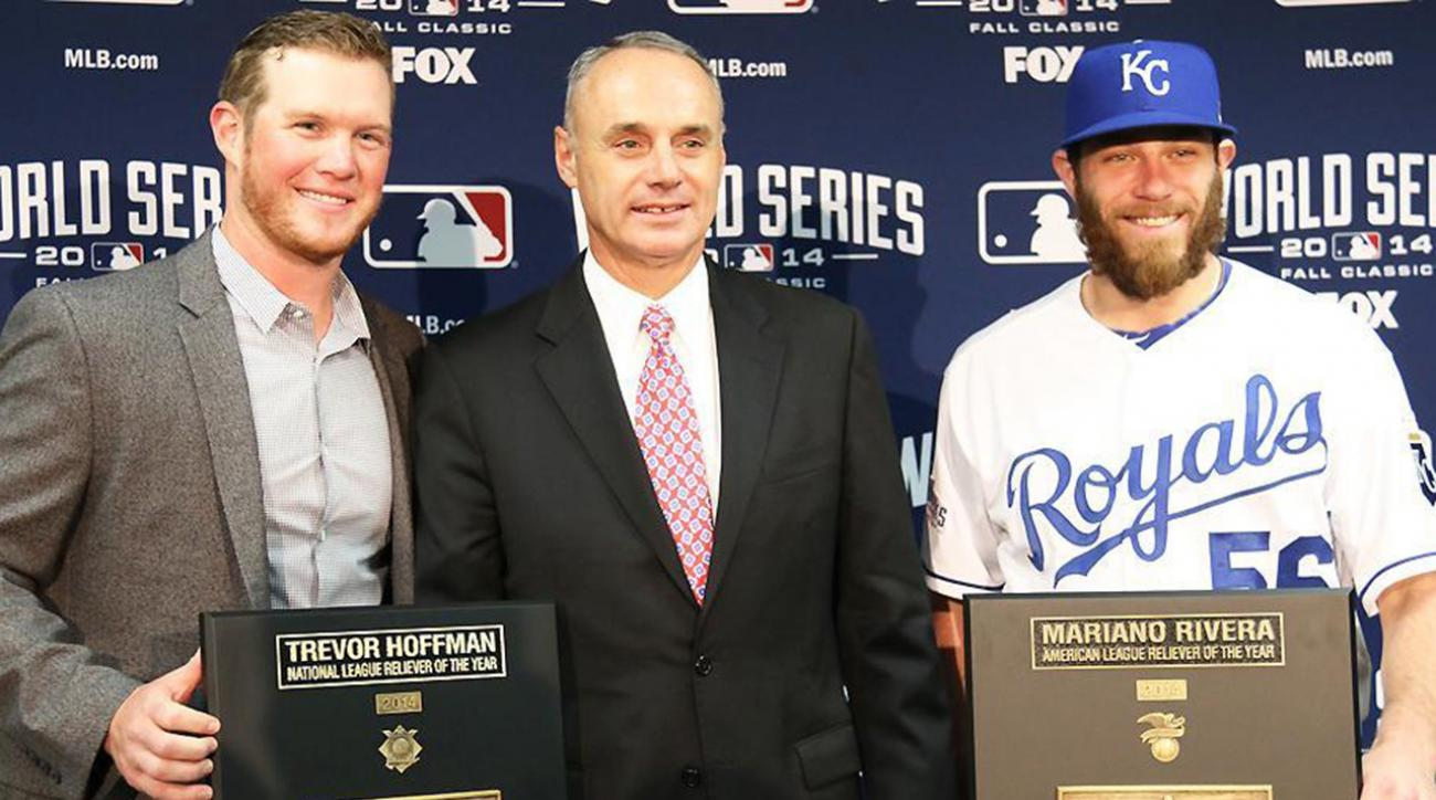 Atlanta Braves P Craig Kimbrel, Kansas City Royals P Greg Holland win newly named MLB reliever awards now named after Mariano Rivera and Trevor Hoffman