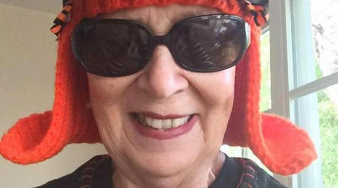 Rosemary Capitolo, a Bay Area grandma fighting ovarian cancer, became a social media star after knitting San Francisco Giants wig.