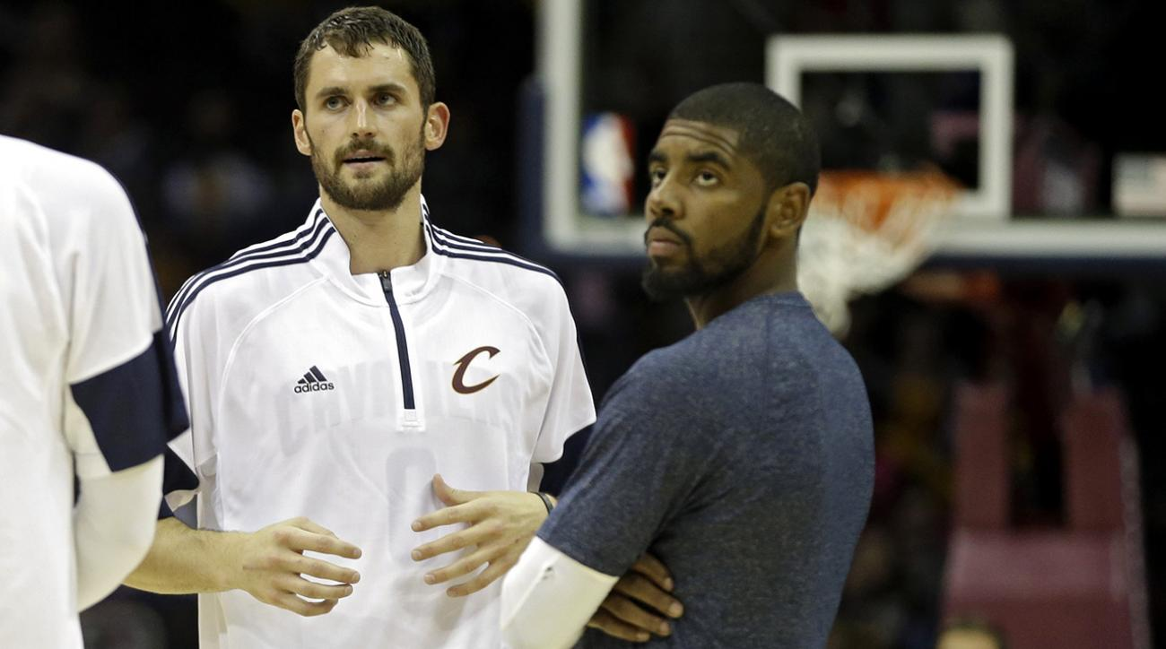 Watch: Kevin Love and Kyrie Irving's controversial handshake