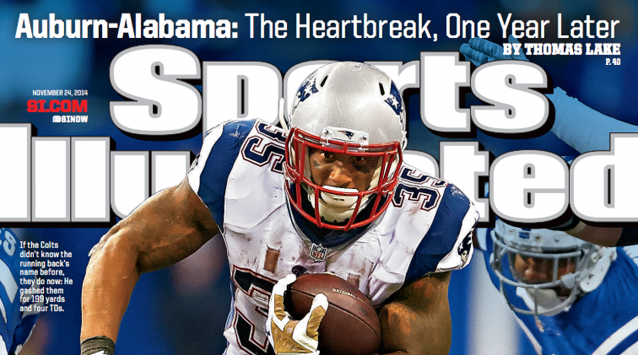 Patriots RB Jonas Gray featured on this week's Sports Illustrated cover