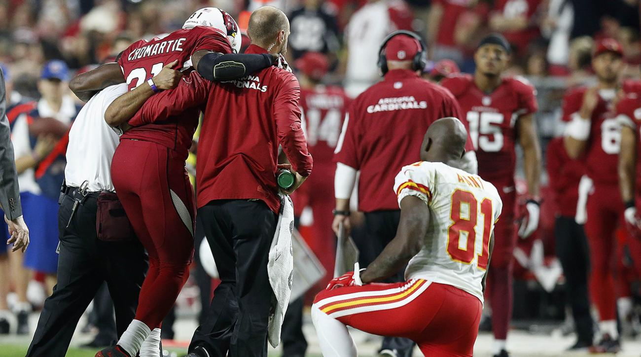 Antonio Cromartie injured during Cardinals win