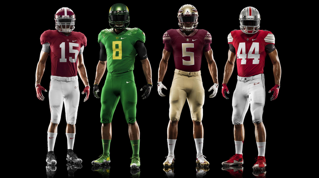 Nike unveils college football playoff uniforms