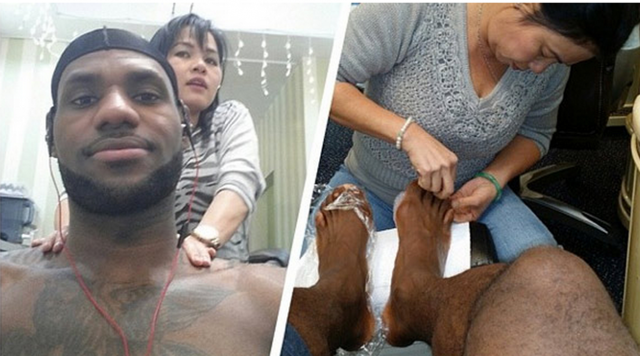 lebron james nail salon beverly hills