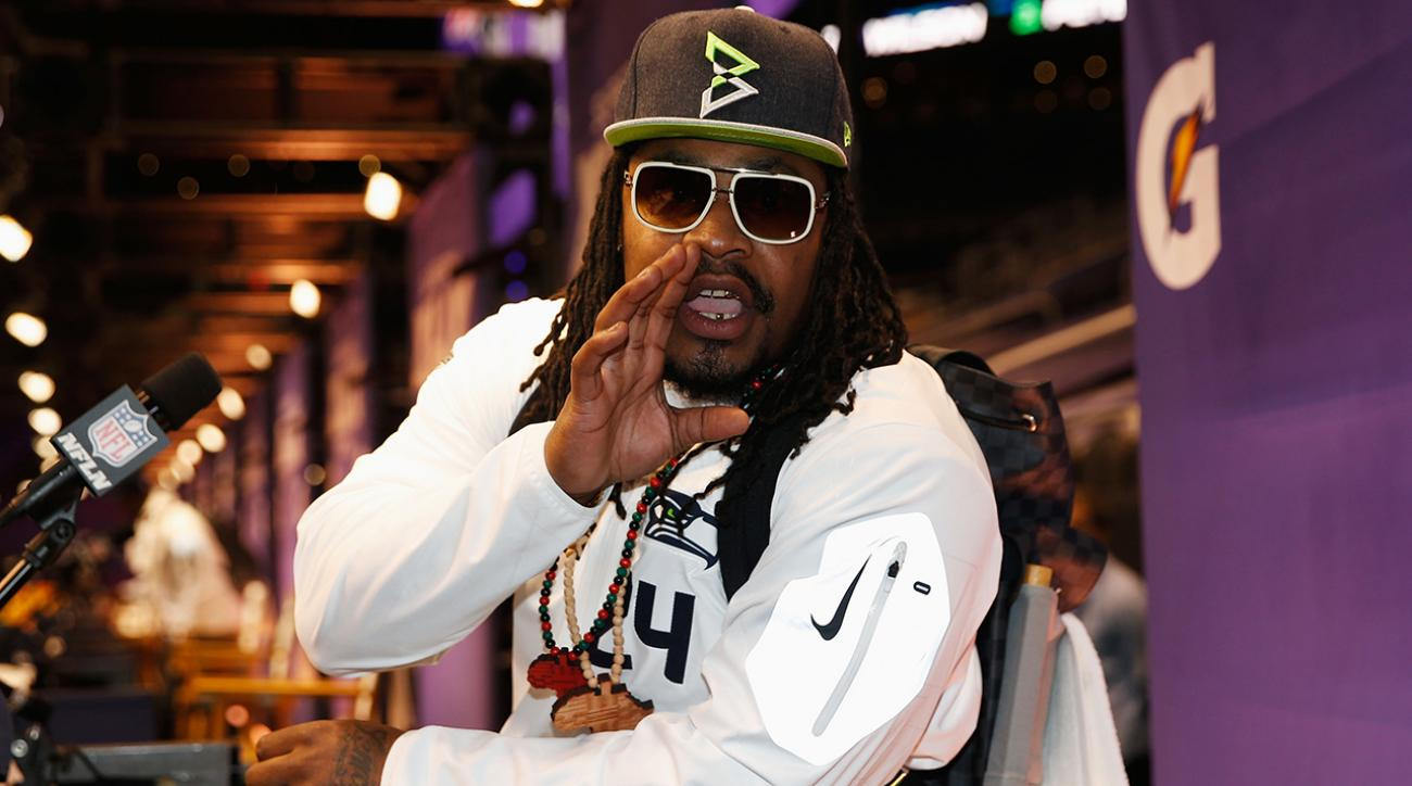 """Marshawn Lynch: """"Loud in what I do, and quite in what I say."""" IMG"""