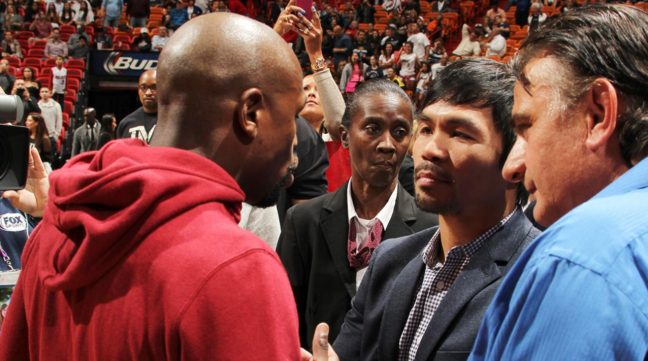Watch: Mayweather pitches Pacquiao about fighting each other