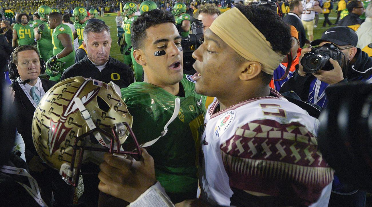 Jameis Winston, Marcus Mariota to throw at Combine IMAGE
