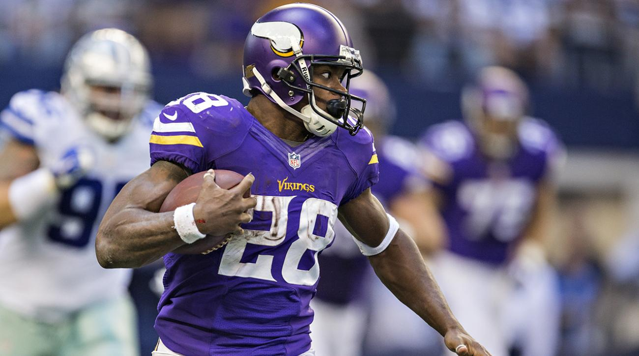 Where will Adrian Peterson be playing in 2015? IMG